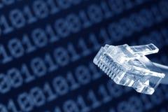 jacks tła binarna komputerowa sieci kablowej Zdjęcie Royalty Free