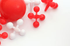 Jacks on white. Red and Wite game of jacks on white background Stock Photos