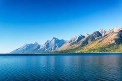 Jackson湖和Teton范围 库存图片