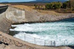 Jackson湖水坝 库存照片