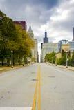 Jackson Boulevard in Chicago royalty-vrije stock afbeeldingen