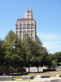 The Jackson building in downtown Asheville, North Carolina. The Neo-Gothic Jackson building in downtown Asheville is considered one of the city's landmarks stock photos