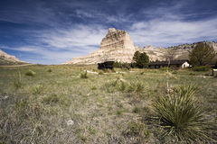 Jackson Butte. And the Oregon Trail - seen in Nebraska royalty free stock photography