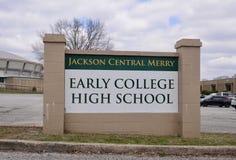 Jackson Central Merry School, Jackson, Tennessee Image libre de droits