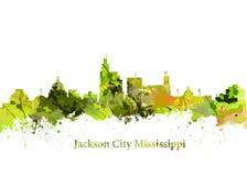 Jackson City Mississippi Royalty-vrije Stock Afbeeldingen