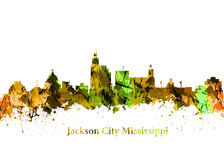 Jackson City Mississippi Fotos de Stock