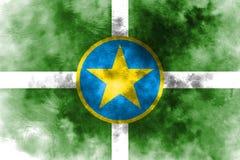 Jackson city smoke flag, Mississippi State, United States Of Ame. Rica Royalty Free Stock Photos