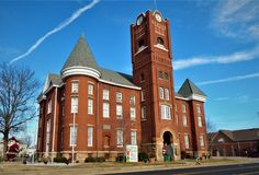 Jackson County Courthouse Newport Arkansas lizenzfreies stockbild