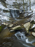 Jackson Falls in Winter royalty free stock photography
