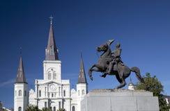 Jackson fyrkant i New Orleans Royaltyfria Bilder
