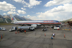 Jackson Hole airport stock images