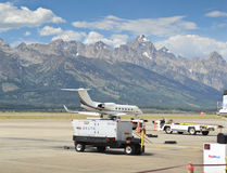 Jackson Hole airport Stock Photography