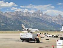 Jackson Hole airport stock photography