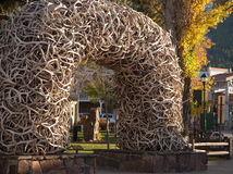 Jackson Hole Antler Arch Imagens de Stock