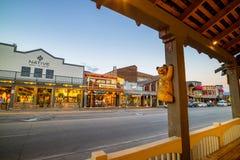 Jackson Hole do centro em Wyoming EUA Foto de Stock