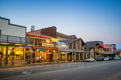 Jackson Hole du centre au Wyoming Etats-Unis Photos stock