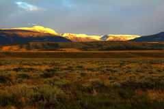 Jackson Hole in Evening Light Stock Image