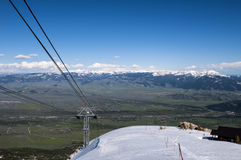 Jackson Hole Mountain Range Stock Photo