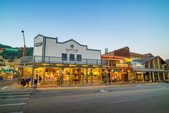 Jackson Hole van de binnenstad in Wyoming de V.S. Stock Fotografie