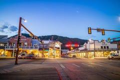 Jackson Hole van de binnenstad in Wyoming de V.S. Stock Foto