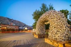 Jackson Hole van de binnenstad in Wyoming de V.S. Royalty-vrije Stock Fotografie