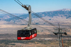 Jackson Hole Wyoming. Ski Gondola royalty free stock photography