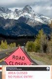 JACKSON HOLE, WYOMING/USA - 1º DE OUTUBRO: Closur dos parques nacionais dos E.U. imagens de stock