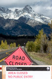 JACKSON HOLE, WYOMING/USA - OCTOBER 1 : US National Parks closure sign at entrance to the Grand Tetons National Park in Wyoming o. N October 1, 2013 stock images