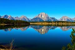 Jackson jezioro w Uroczystym Teton parku narodowym Zdjęcia Stock