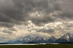 Jackson jezioro, Wyoming Obrazy Stock