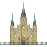 Jackson kwadrata St Louis katedra Nowy Orlean Obrazy Stock