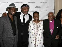jackson l Samuel Jackson i Desmond Tutu zdjęcie royalty free