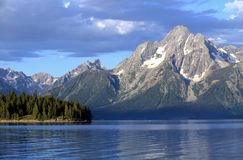Jackson Lake. View of the mountains and the Jackson lake at Teton in NP, USA Stock Images