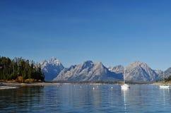 Jackson Lake Stock Foto's