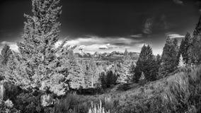Jackson Lake as Seen From Signal Mountain Stock Photo