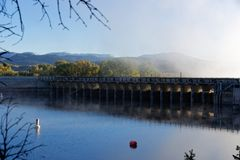 Jackson Lake Dam foto de stock