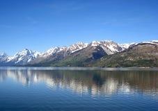 Jackson Lake e o Tetons, parque nacional grande de Teton Imagens de Stock