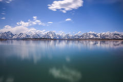 Jackson Lake en Tetons Royalty-vrije Stock Afbeeldingen
