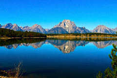 Jackson Lake in großartigem Nationalpark Teton Stockfotos