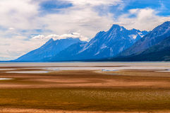 Jackson Lake Low water Level Royalty Free Stock Image