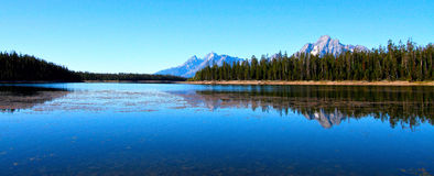 Jackson Lake no parque nacional grande de Teton Foto de Stock