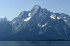 Jackson Lake, parc national grand de Teton, Wyoming, Etats-Unis image libre de droits