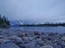 Jackson Lake, parque nacional grande de Teton, Wyoming U S A imagens de stock