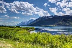 Jackson Lake, parque nacional grande Wyoming E.U. de Teton Fotos de Stock Royalty Free