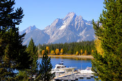 Jackson lake scenic area Stock Image