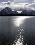 Jackson Lake, Tetons grande, Wyoming fotografia de stock