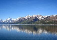 Jackson Lake und das Tetons, großartiger Nationalpark Teton Stockbilder