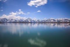 Jackson Lake und Tetons Lizenzfreie Stockbilder