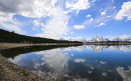 Jackson Lake und Tetons Stockbild