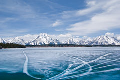 Jackson Lake in Winter stock images